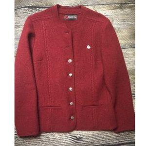 Giesswein Tirol Red Boiled Wool Jacket